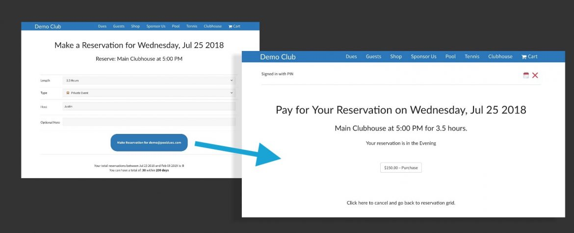 Booking System for Paypal Clubhouse or facility reservations