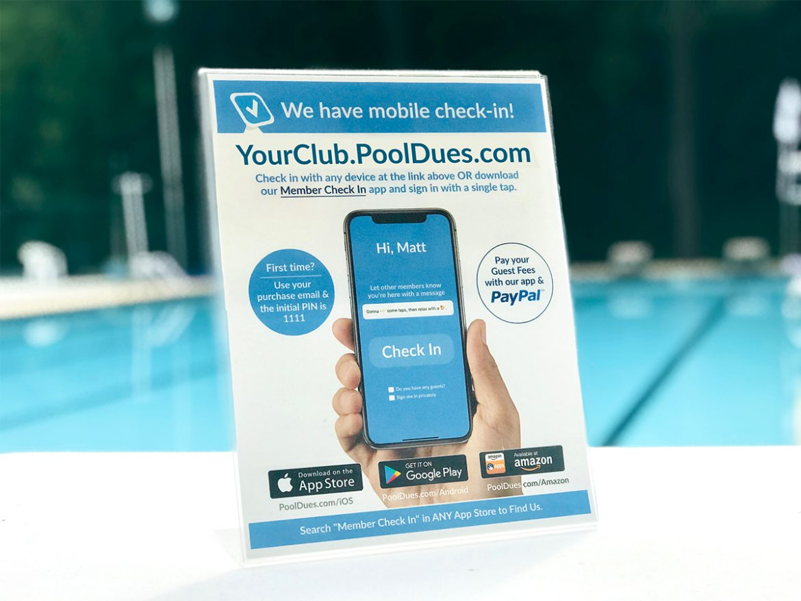 Sign for Member Check in At Pool