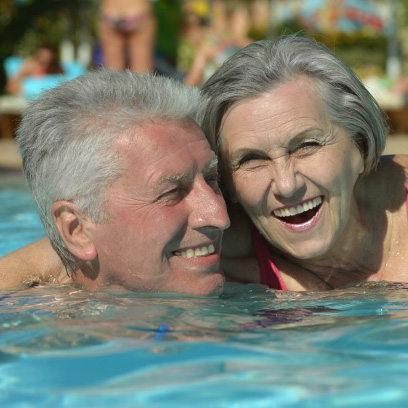 Senior couple membership for pools