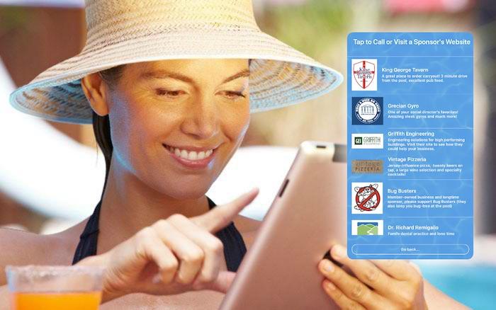 Woman Browsing Pool Sponsors in App