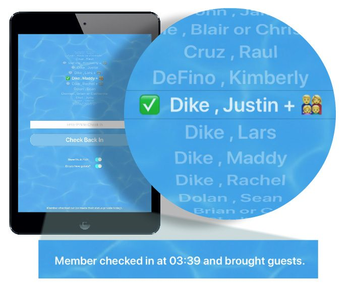 Close up view of Guest Icon with Paid Guests