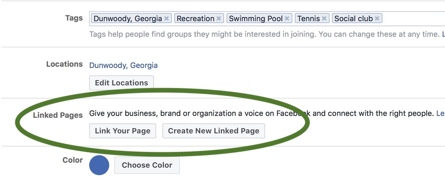 Link your Page to your pool Group