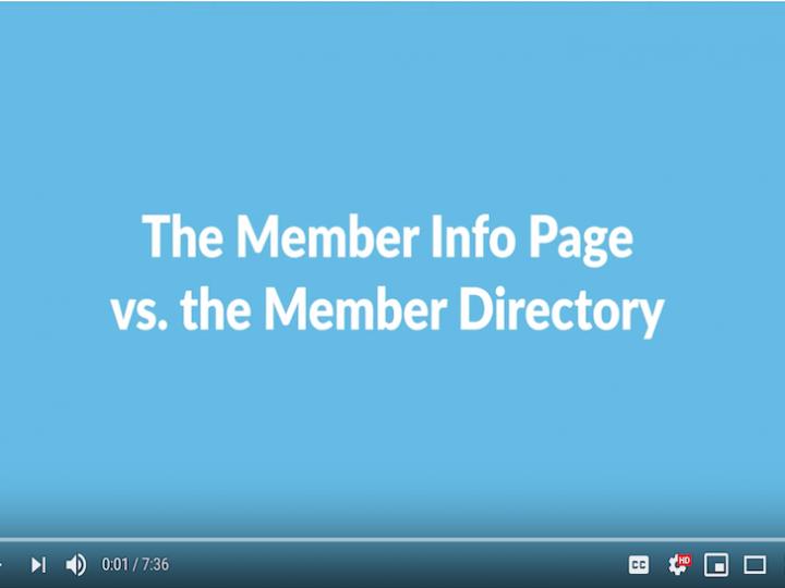 Member Info & Member Directory