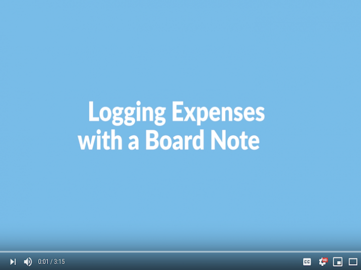 Logging Expenses Using the Notes Function